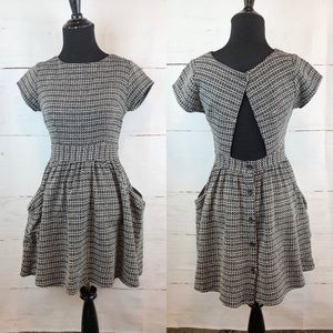 Dresses & Skirts - Tweed Dress with Keyhole Open, Size XS